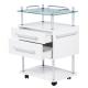 Arbejdsbord Luxury 2 hvid højglans