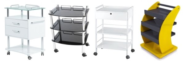 Beauty trolley salon storage equipment tattoo table