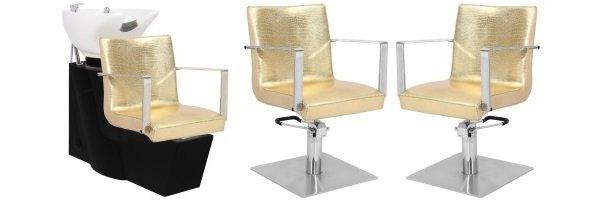 Klippestole og vaskestole til frisør saloner