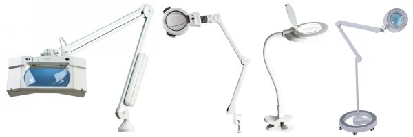 A range of quality magnifying lamps